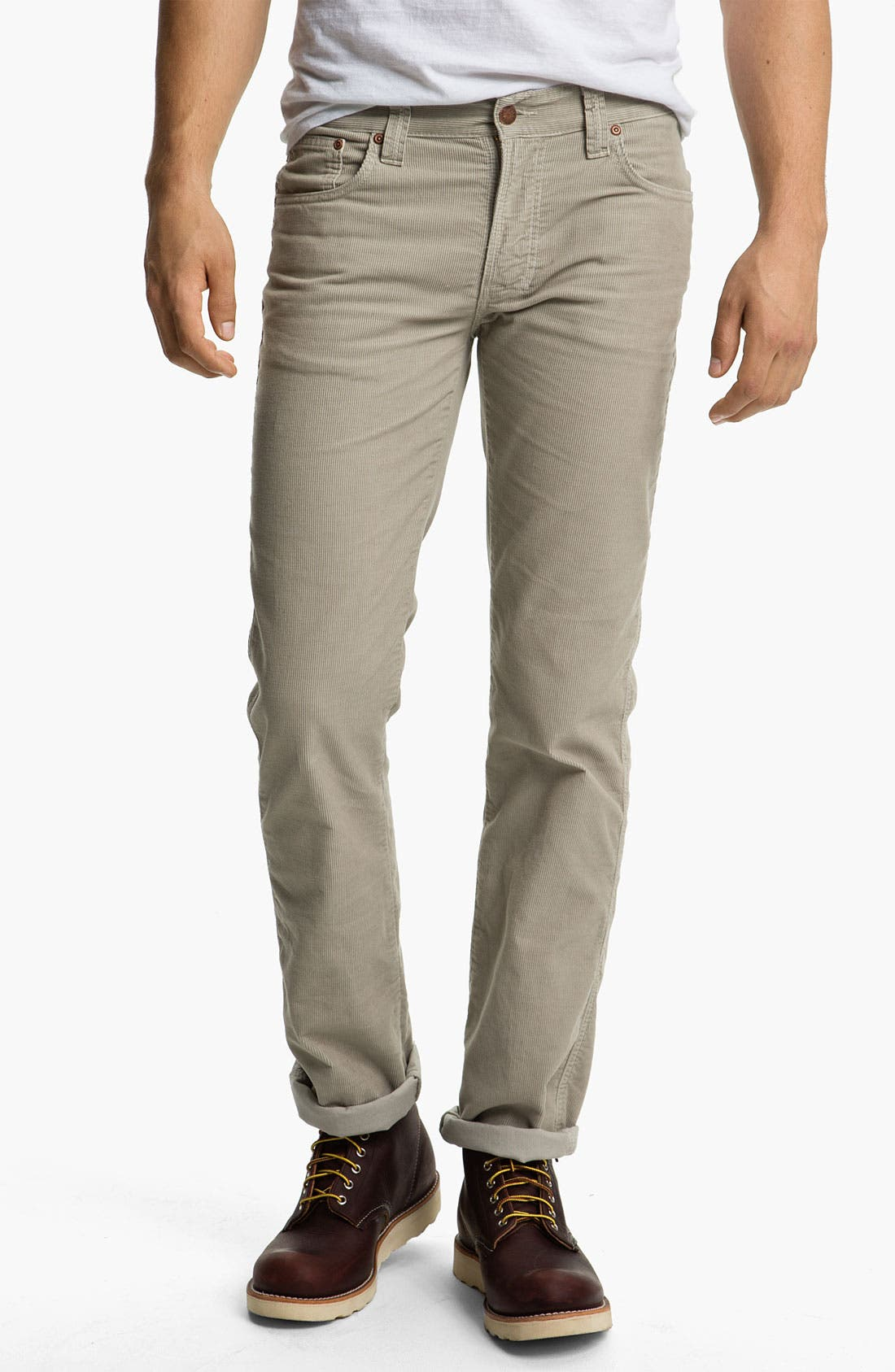 Alternate Image 2  - Nudie 'Slim Jim' Slim Straight Leg Corduroy Pants