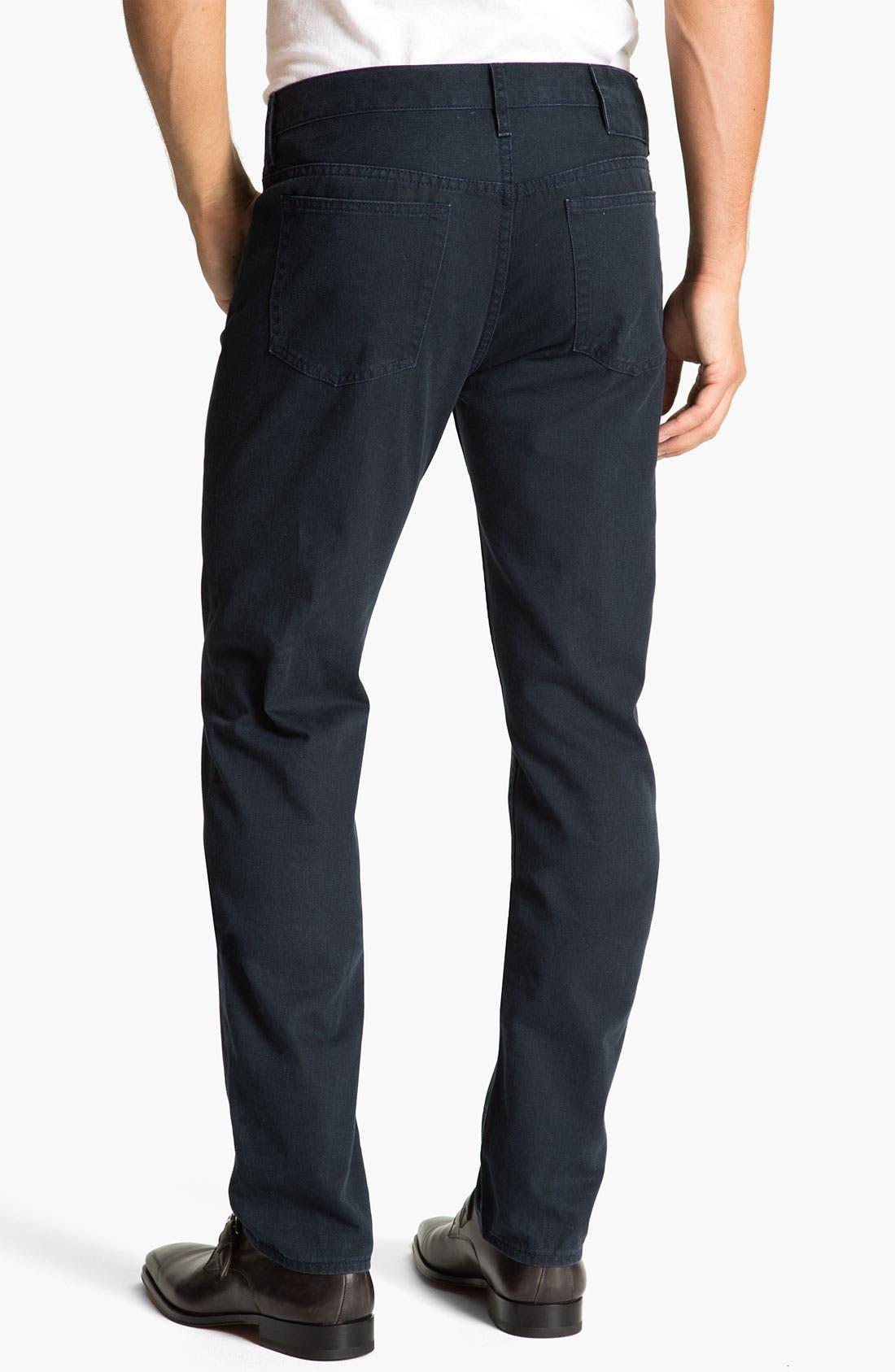Main Image - MARC BY MARC JACOBS Slim Straight Leg Jeans (Darkest Teal)