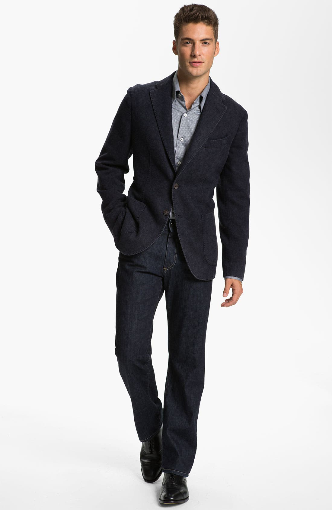 Alternate Image 4  - Canali Wool & Cashmere Sportcoat