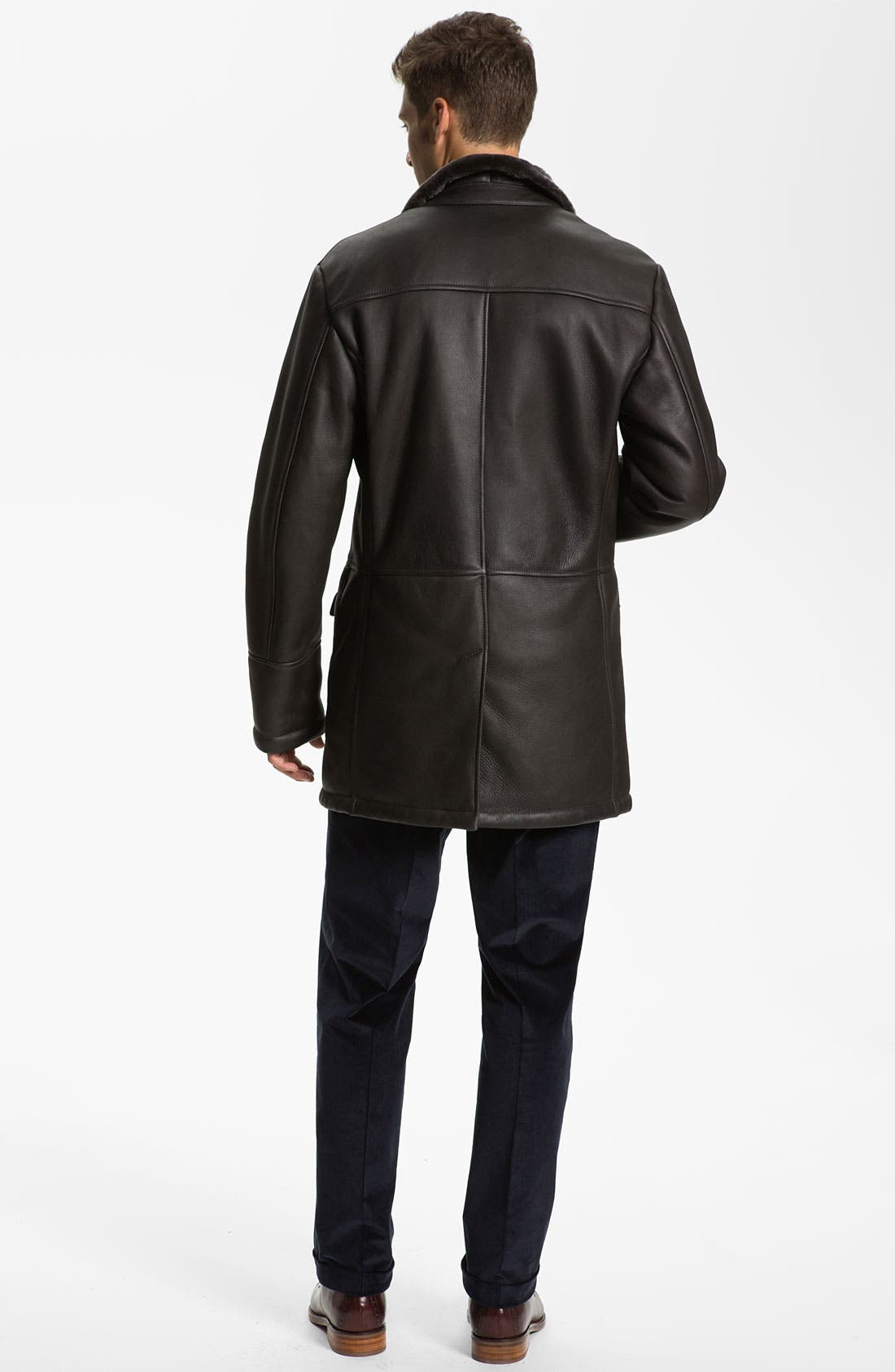 Alternate Image 5  - Canali Shearling-Lined Leather Coat
