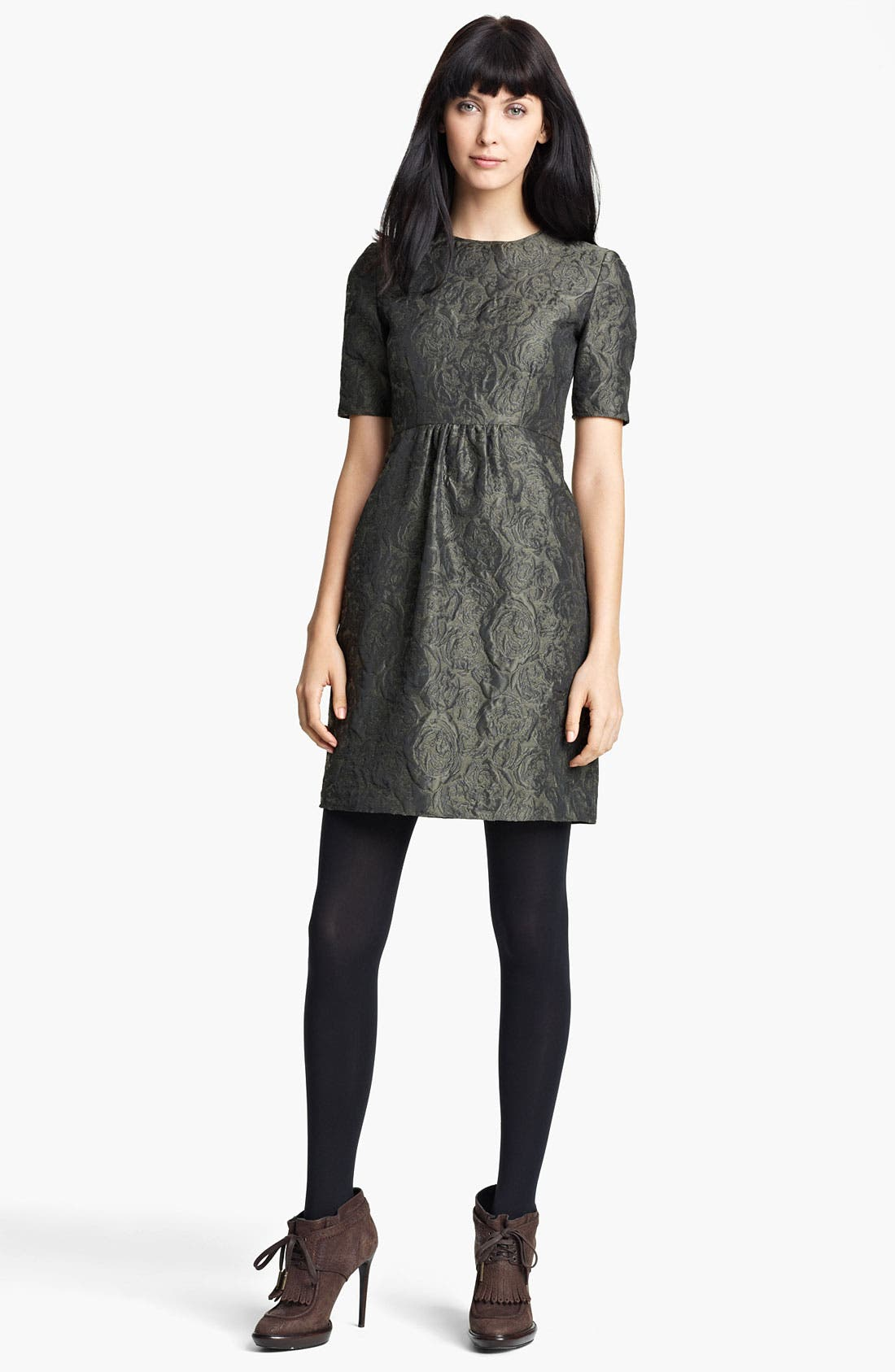 Alternate Image 1 Selected - Burberry London Floral Jacquard Dress