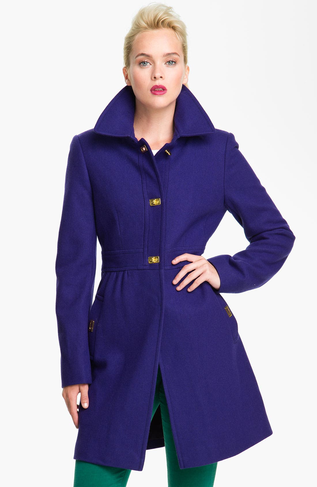 Alternate Image 1 Selected - DKNY 'Kendra' Turnkey Wool Blend Coat (Nordstrom Exclusive)