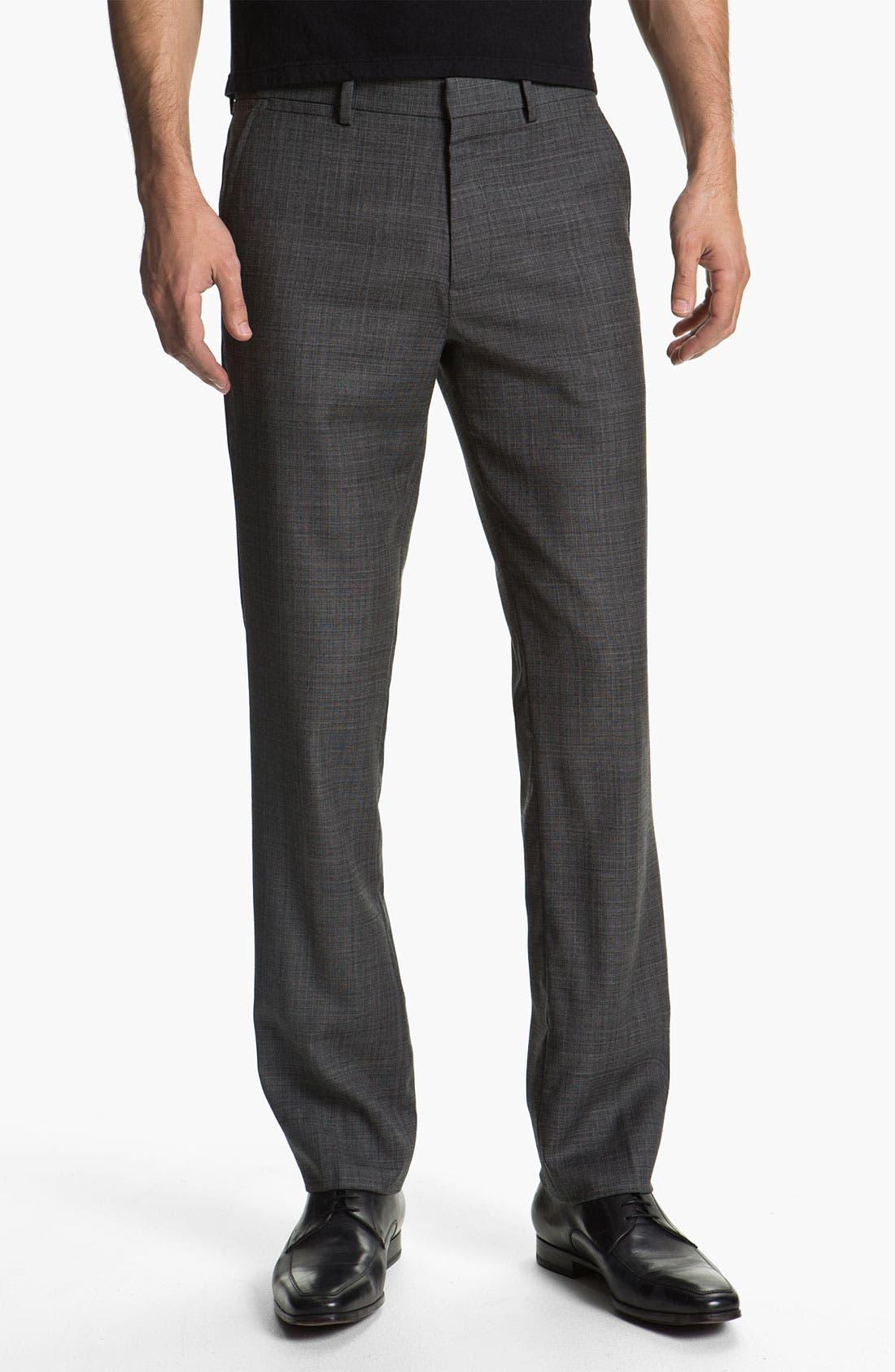 Main Image - Theory 'Marlo LaJoux' Straight Leg Wool Pants
