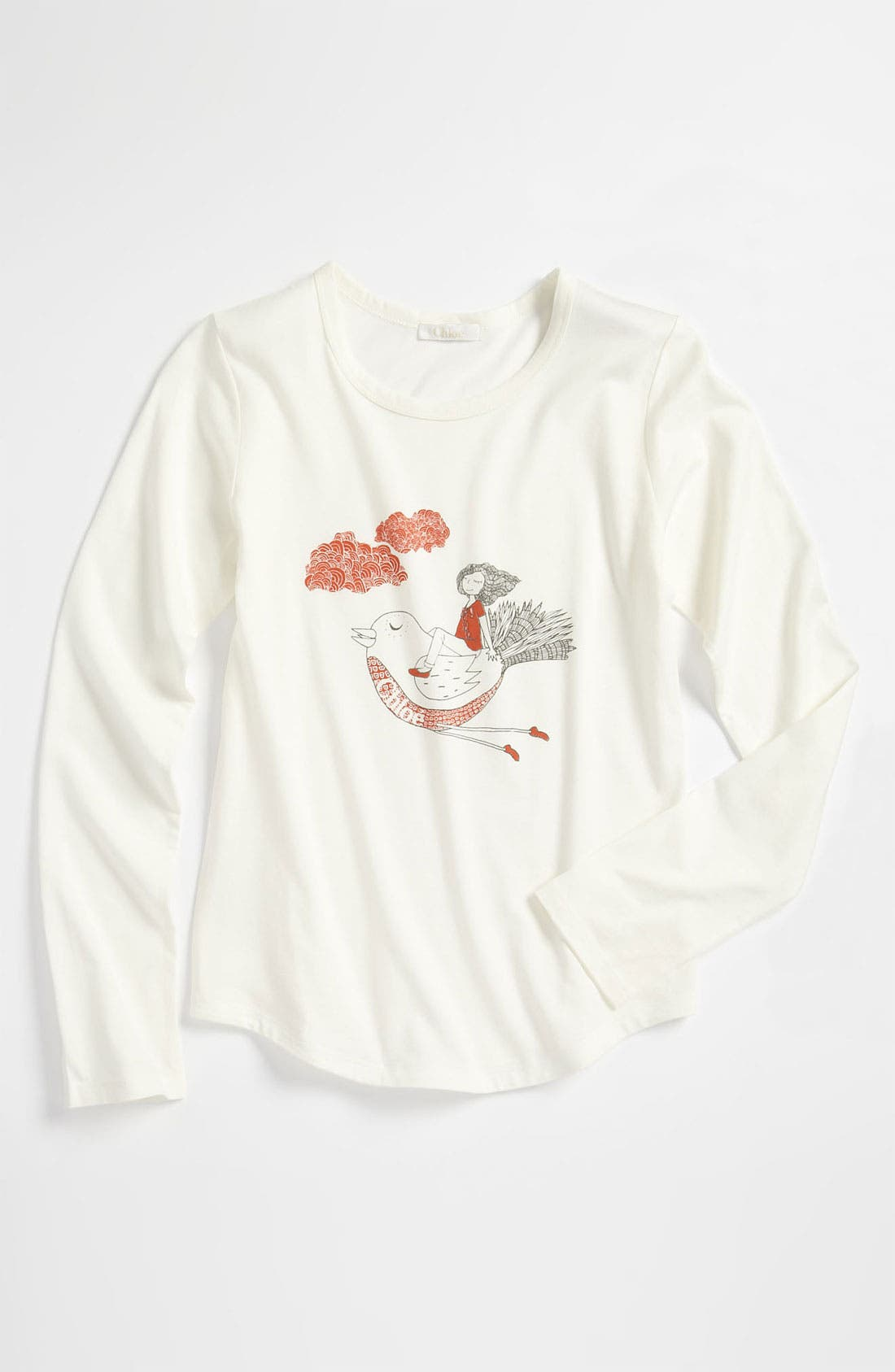 Alternate Image 1 Selected - Chloé Graphic Tee (Little Girls & Big Girls)