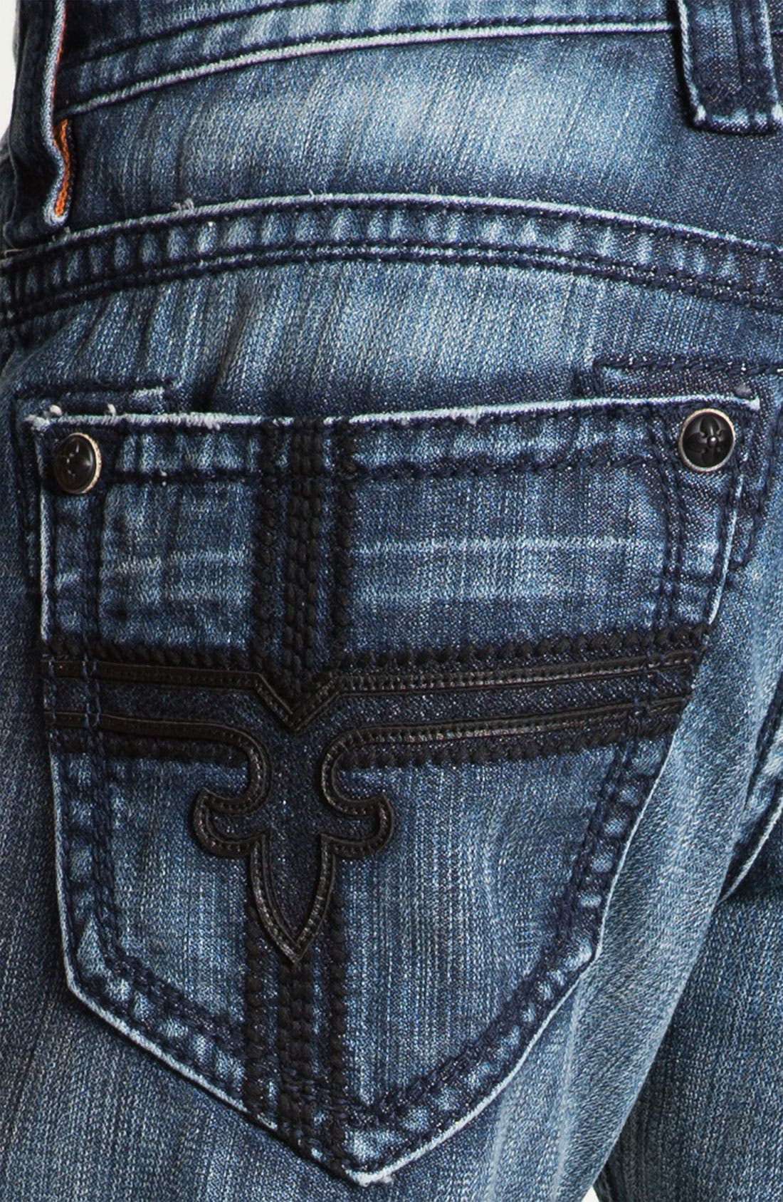 Alternate Image 4  - Rock Revival 'Larry Alternative' Straight Leg Jeans (Medium Blue)