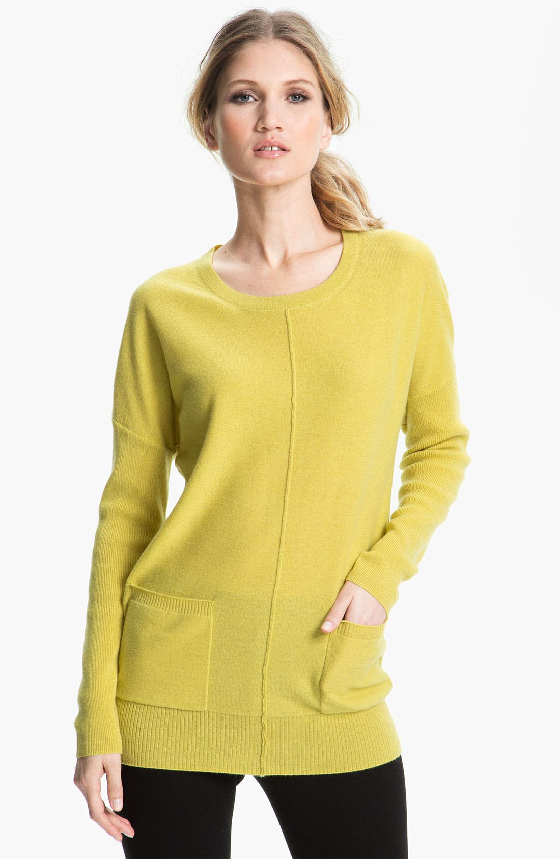 Alternate Image 1 Selected - Nordstrom Collection Cashmere Tunic Sweater