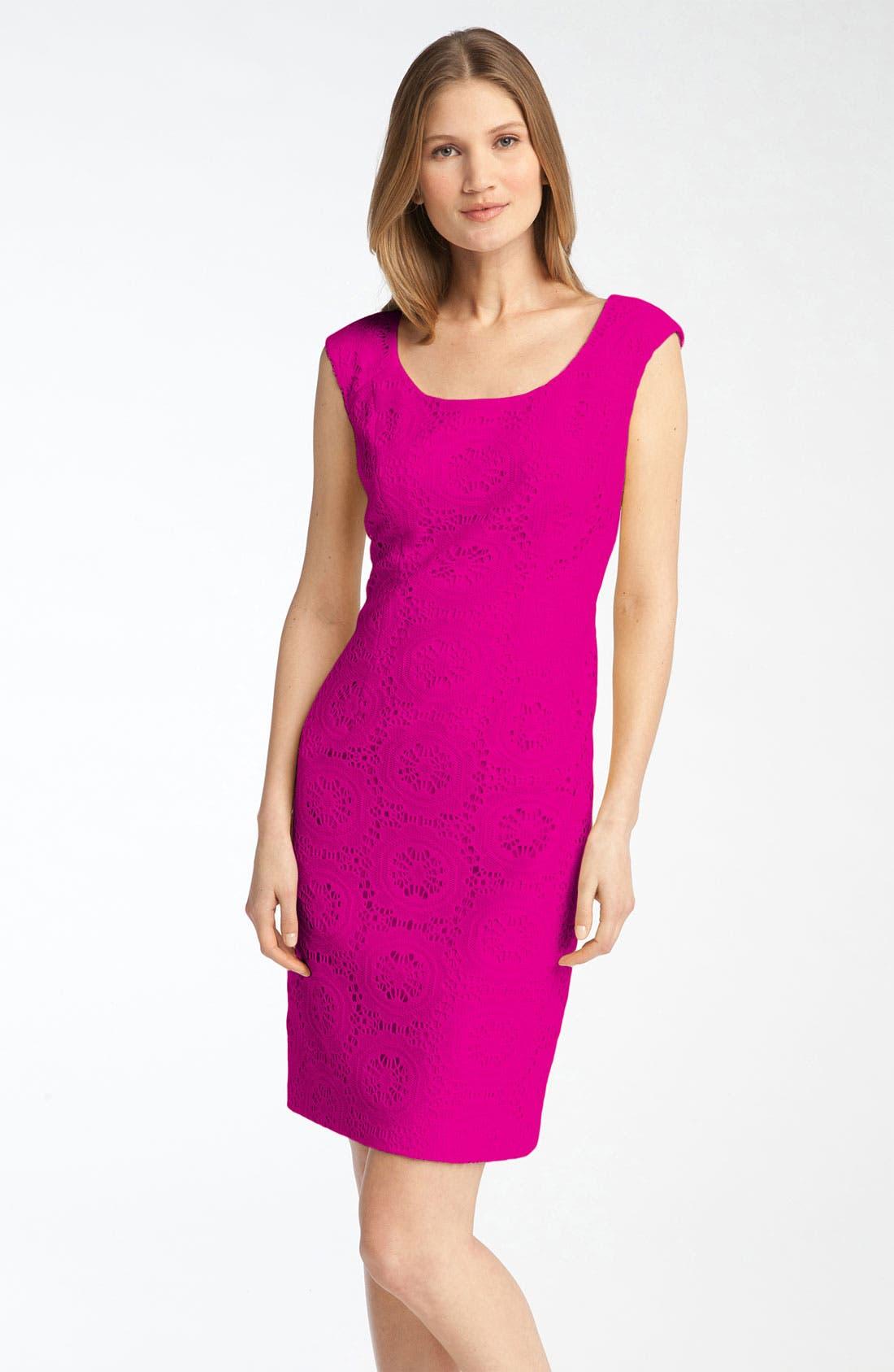 Alternate Image 1 Selected - Adrianna Papell Crochet Sheath Dress