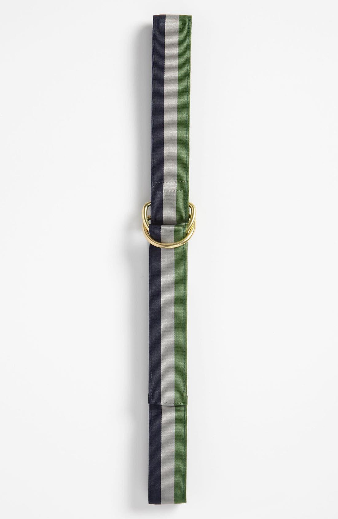 Main Image - Brooks Brothers Striped Ribbon Belt (Big Boys)