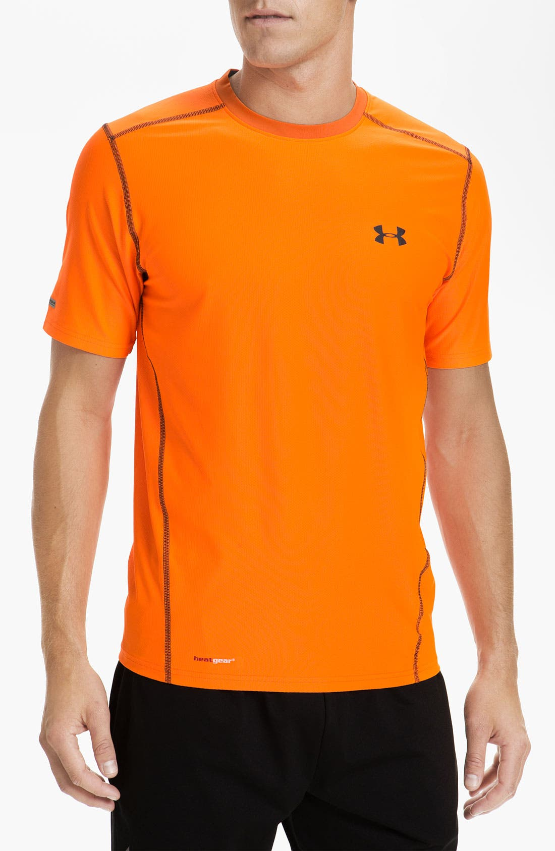 Main Image - Under Armour UA Tech™ HeatGear® Fitted T-Shirt (Online Exclusive)