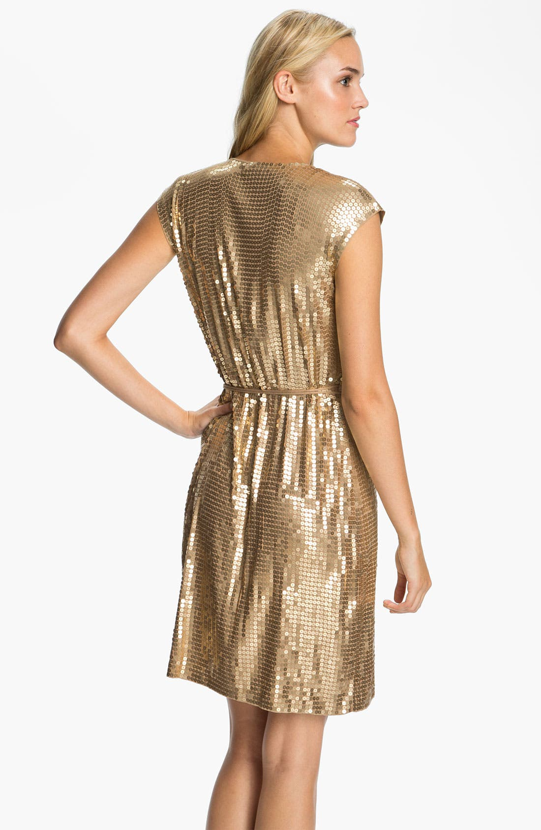 Alternate Image 2  - MICHAEL Michael Kors Sequin Wrap Dress