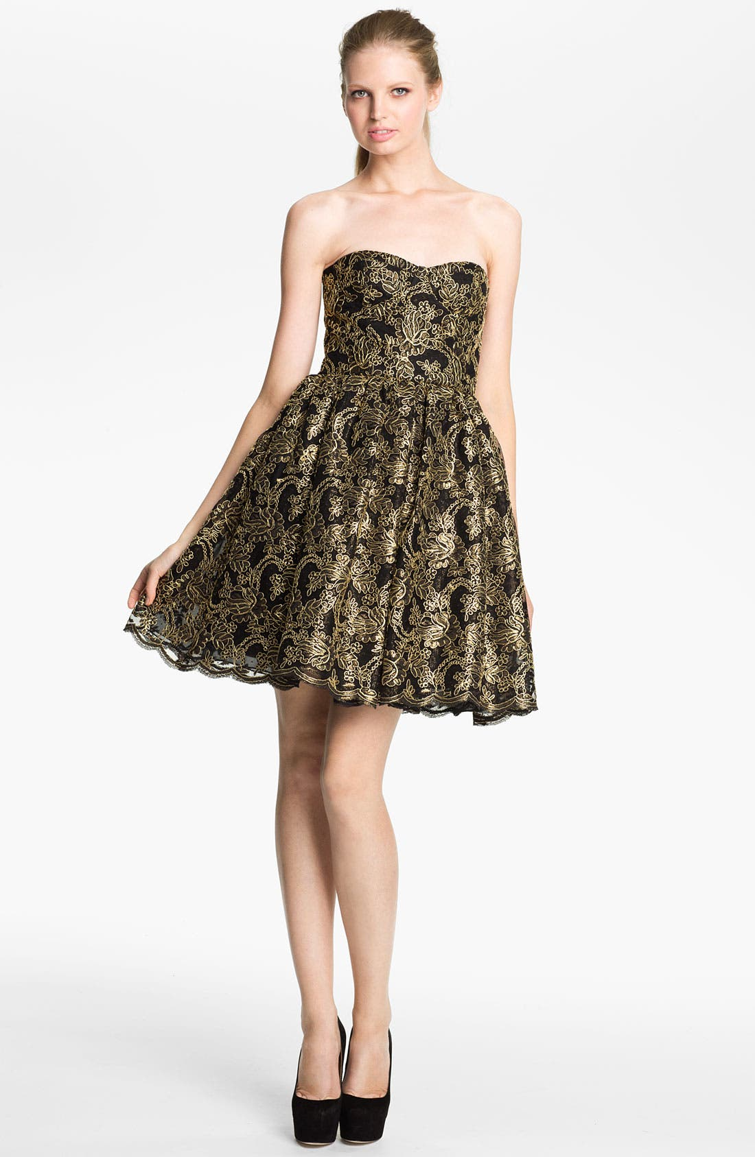 Alternate Image 1 Selected - Alice + Olivia 'Caryn' Full Skirt Dress