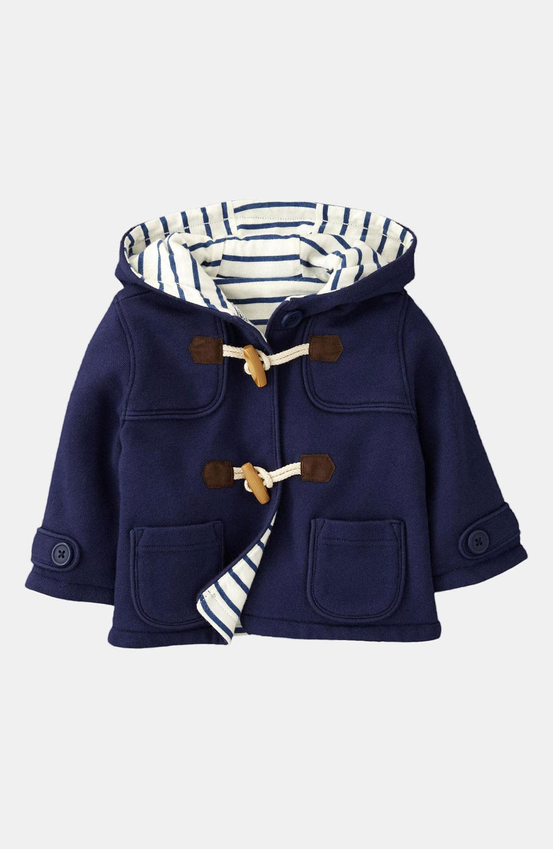 Alternate Image 1 Selected - Mini Boden Duffle Coat (Infant)