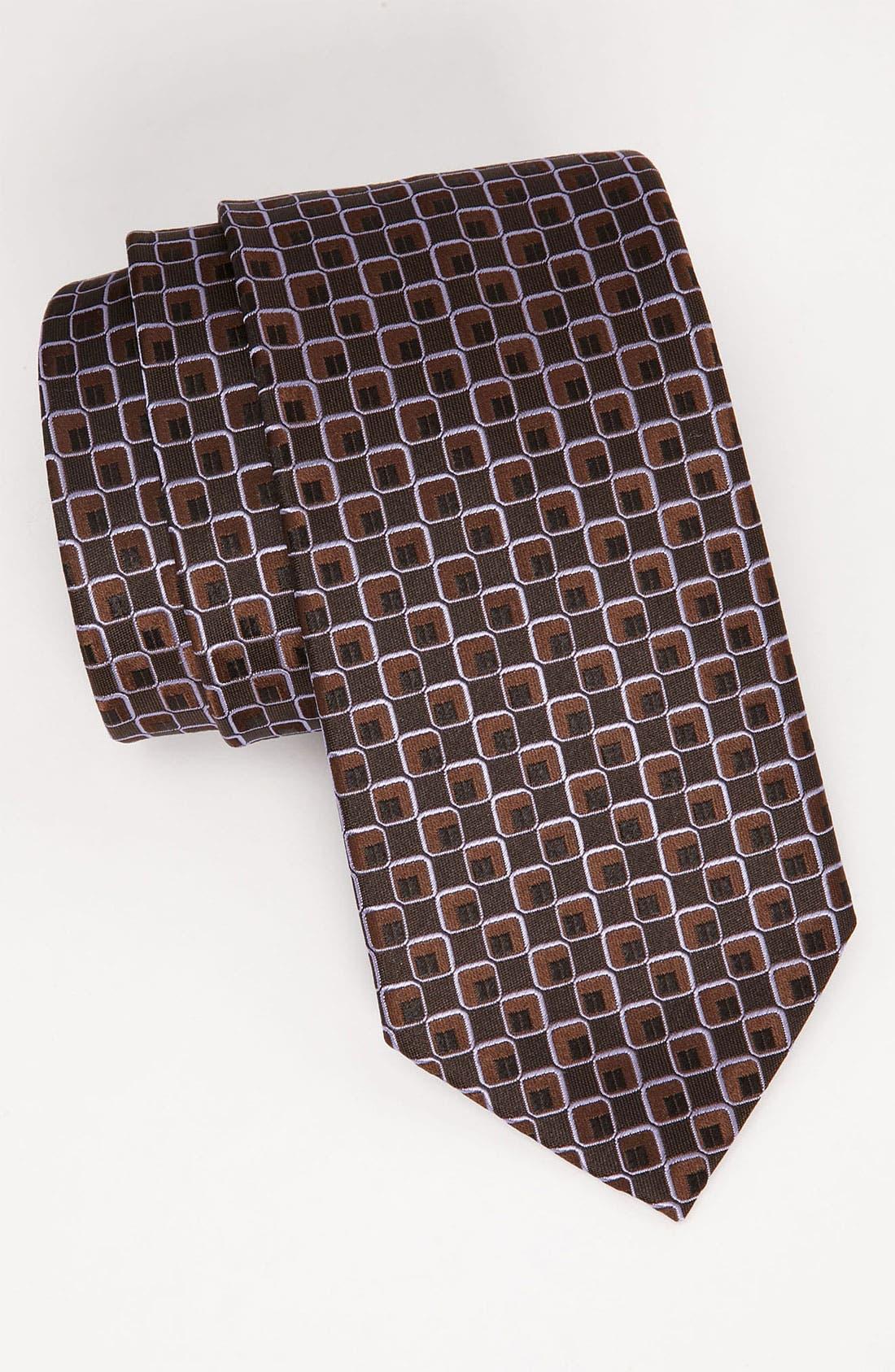 Alternate Image 1 Selected - BOSS Black Woven Silk Tie
