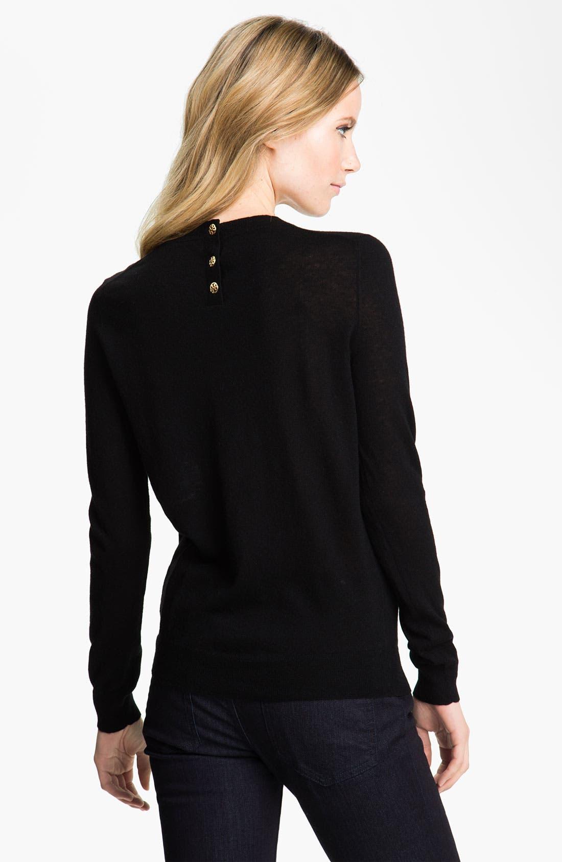 Alternate Image 2  - Tory Burch 'Iberia' Cashmere Logo Sweater
