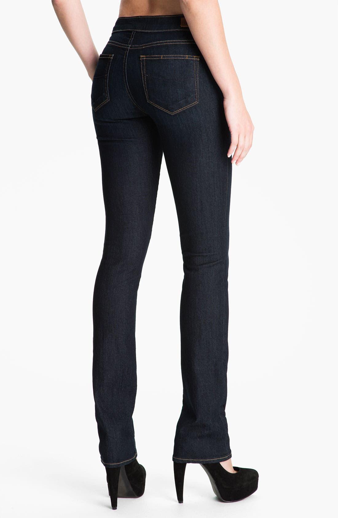 Alternate Image 2  - PAIGE 'Skyline' Straight Leg Stretch Denim Jeans (Stream Wash)