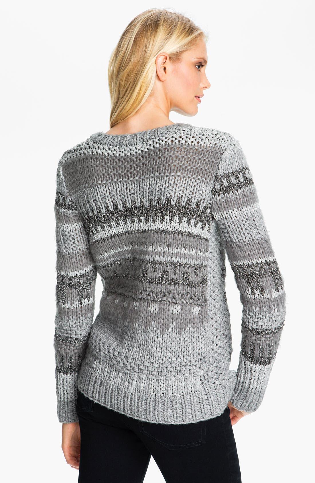 Alternate Image 2  - MICHAEL Michael Kors Textured Intarsia Sweater