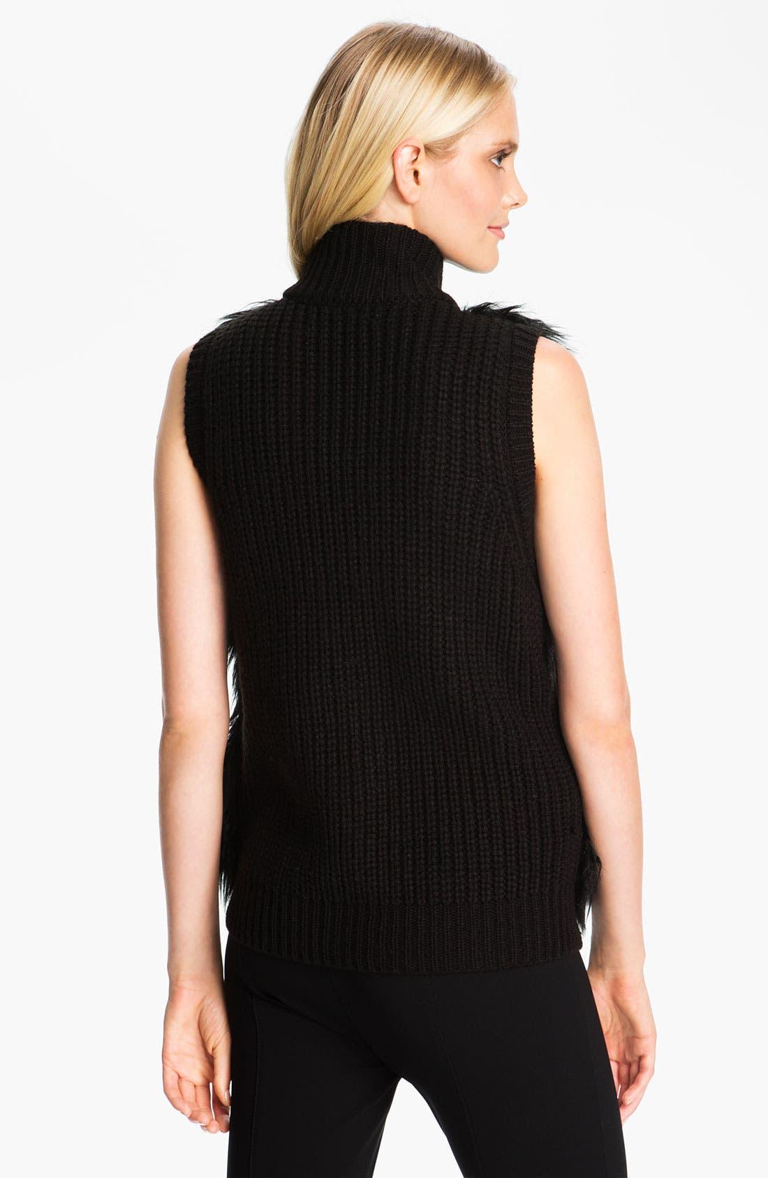 Alternate Image 2  - MICHAEL Michael Kors Faux Fur Front Sweater Vest