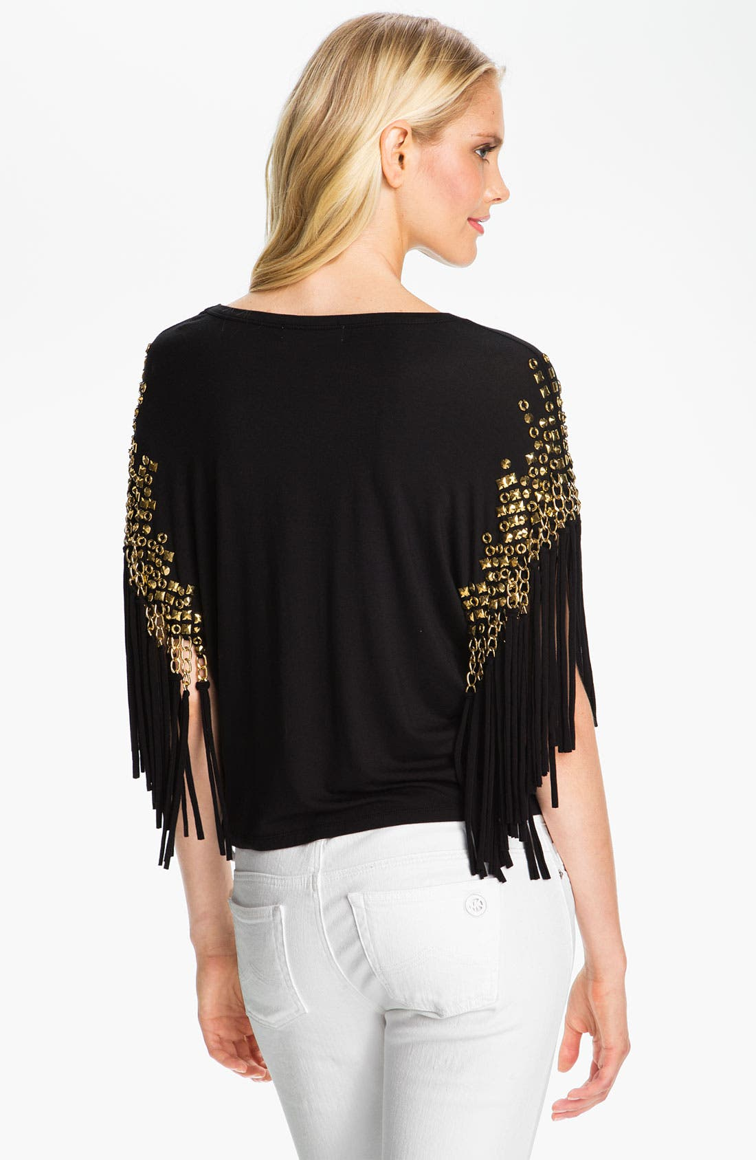 Alternate Image 2  - MICHAEL Michael Kors Embellished Fringe Top