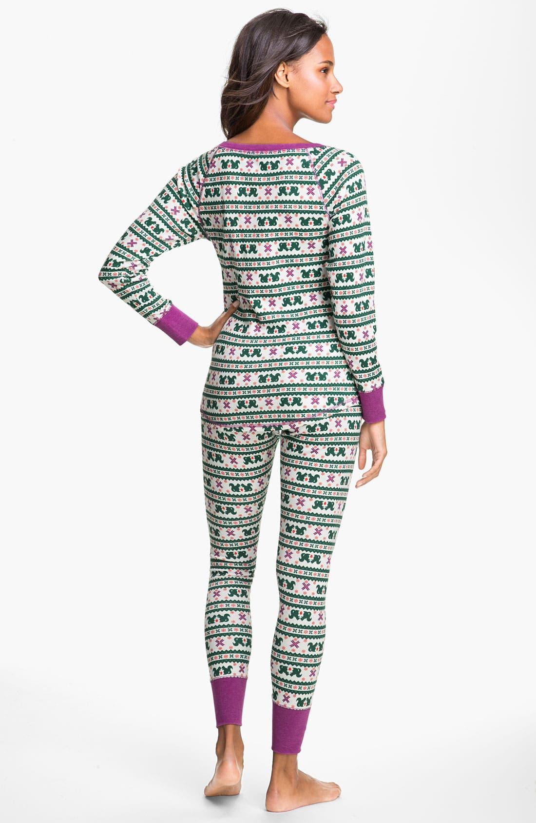 Alternate Image 2  - Make + Model Pattern Thermal Pajamas