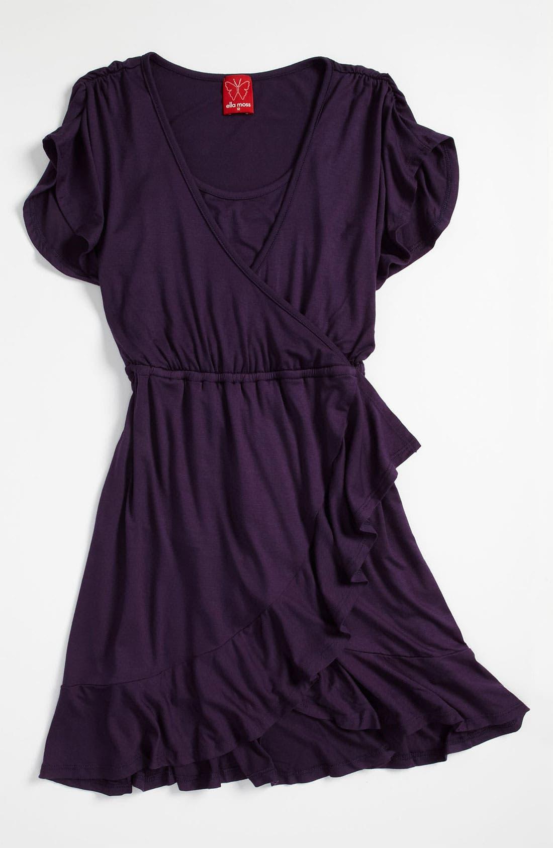 Alternate Image 1 Selected - Ella Moss 'Bella' Ruffle Dress (Big Girls)