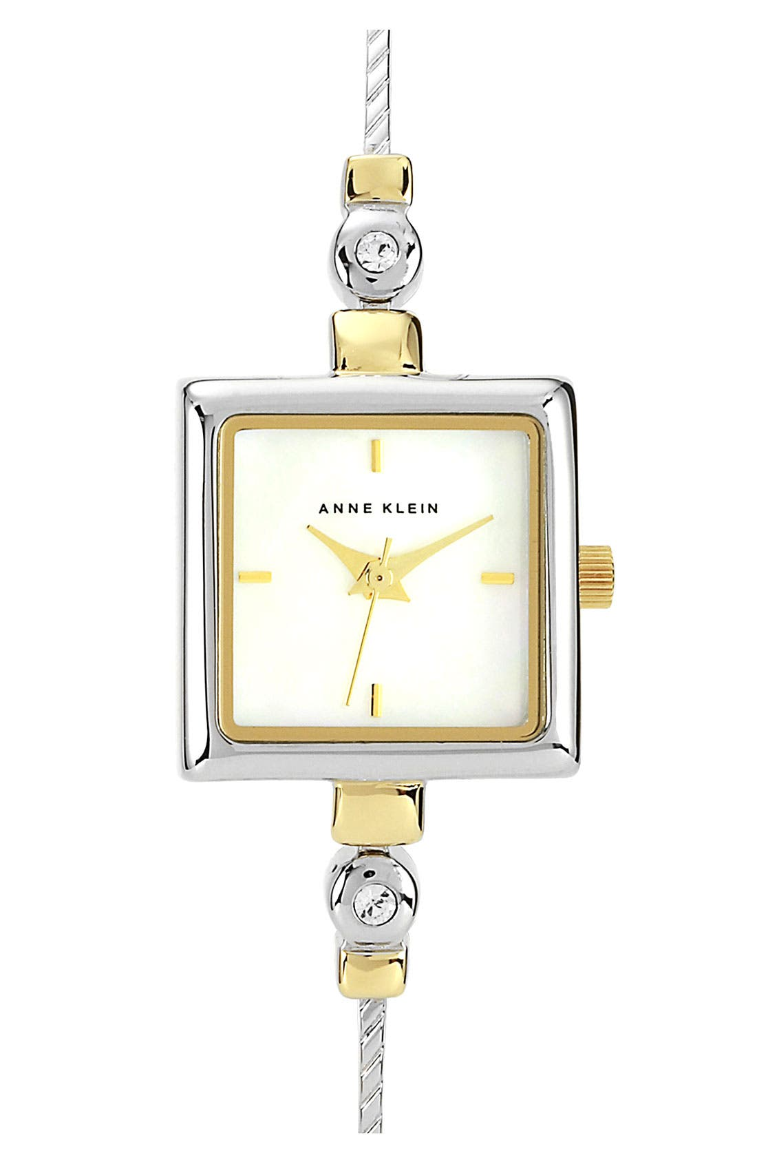 Main Image - Anne Klein Square Bangle Watch, 19mm