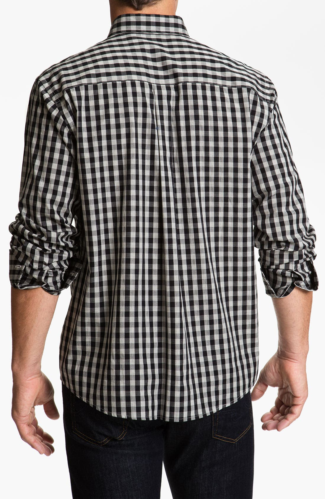 Alternate Image 2  - Cutter & Buck 'Tusk' Check Sport Shirt (Big & Tall)