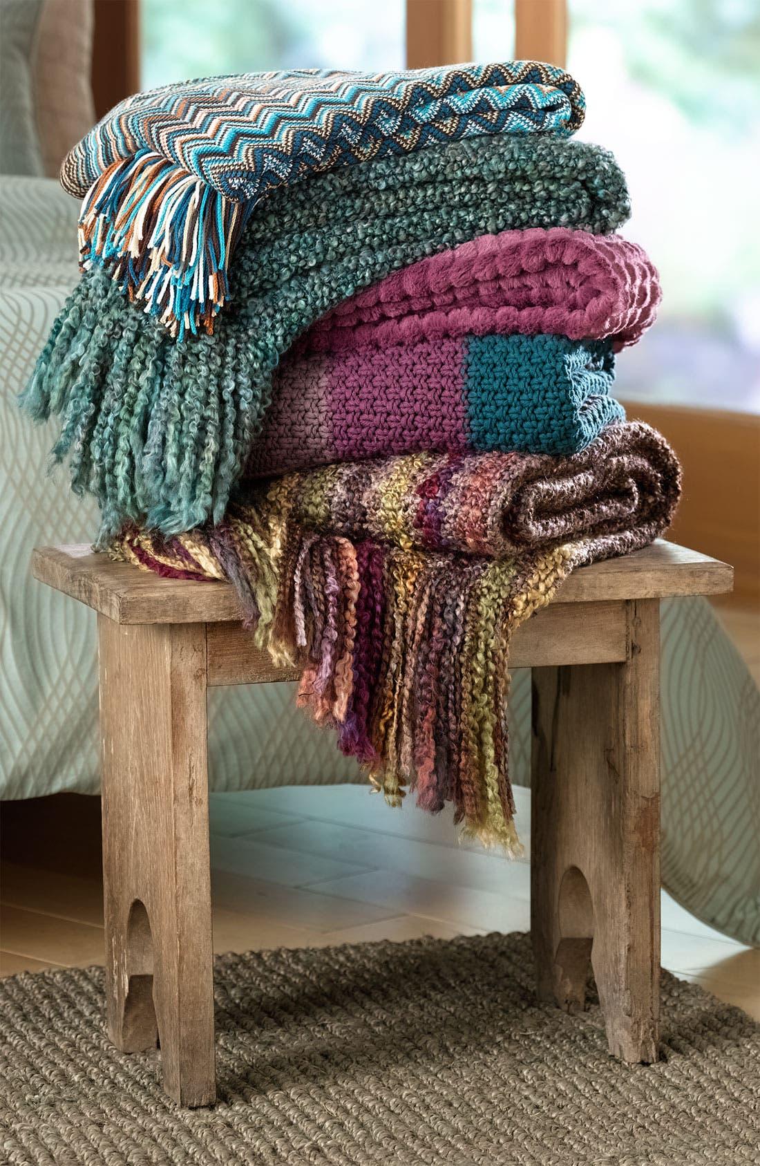 Alternate Image 4  - Kennebunk Home 'Caitlin' Chevron Knit Throw