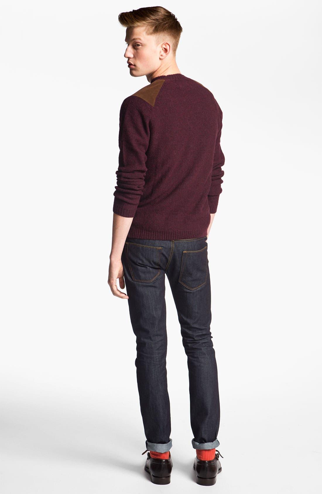Alternate Image 6  - Topman 'Flynn' Skinny Jeans (Indigo)