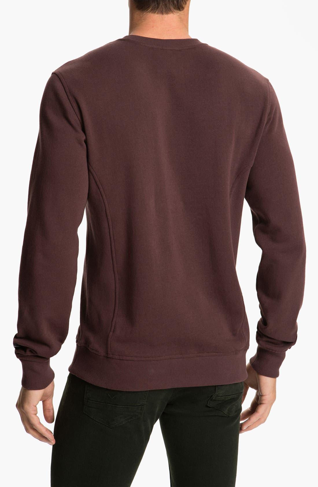 Alternate Image 2  - RVCA 'Delux' Crewneck Sweatshirt