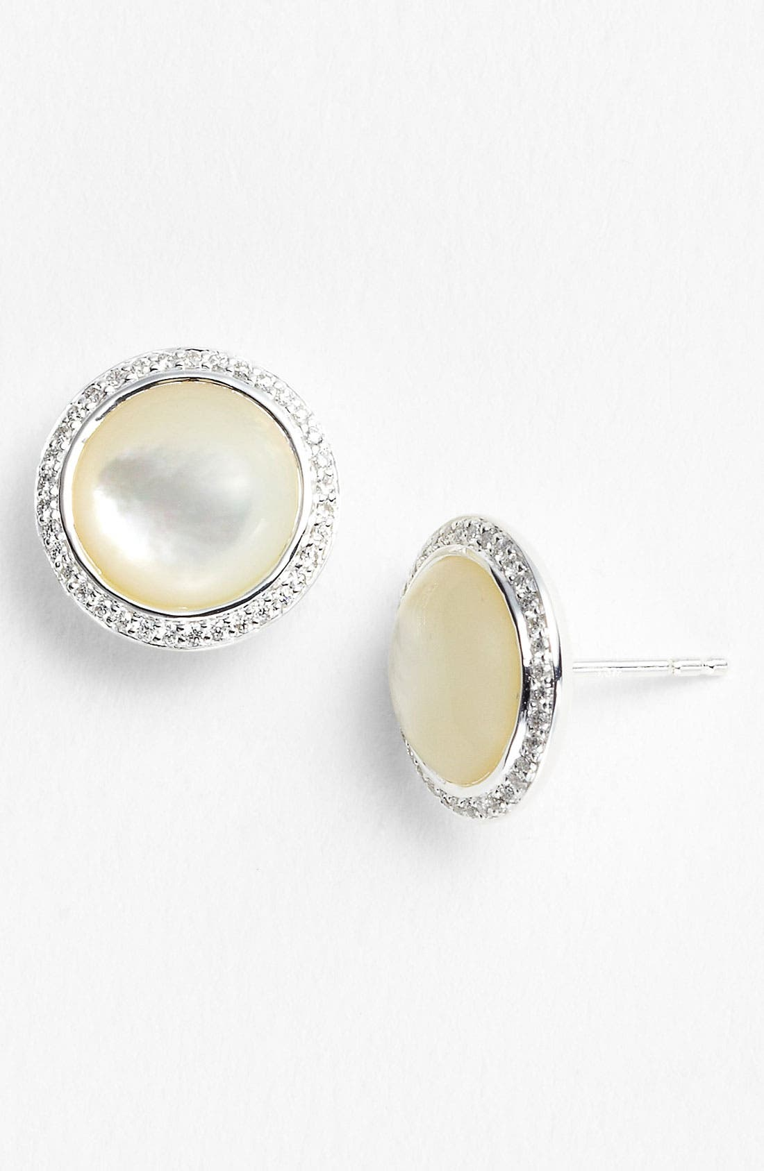 Alternate Image 1 Selected - Ippolita 'Scultura' Diamond & Cabochon Stud Earrings