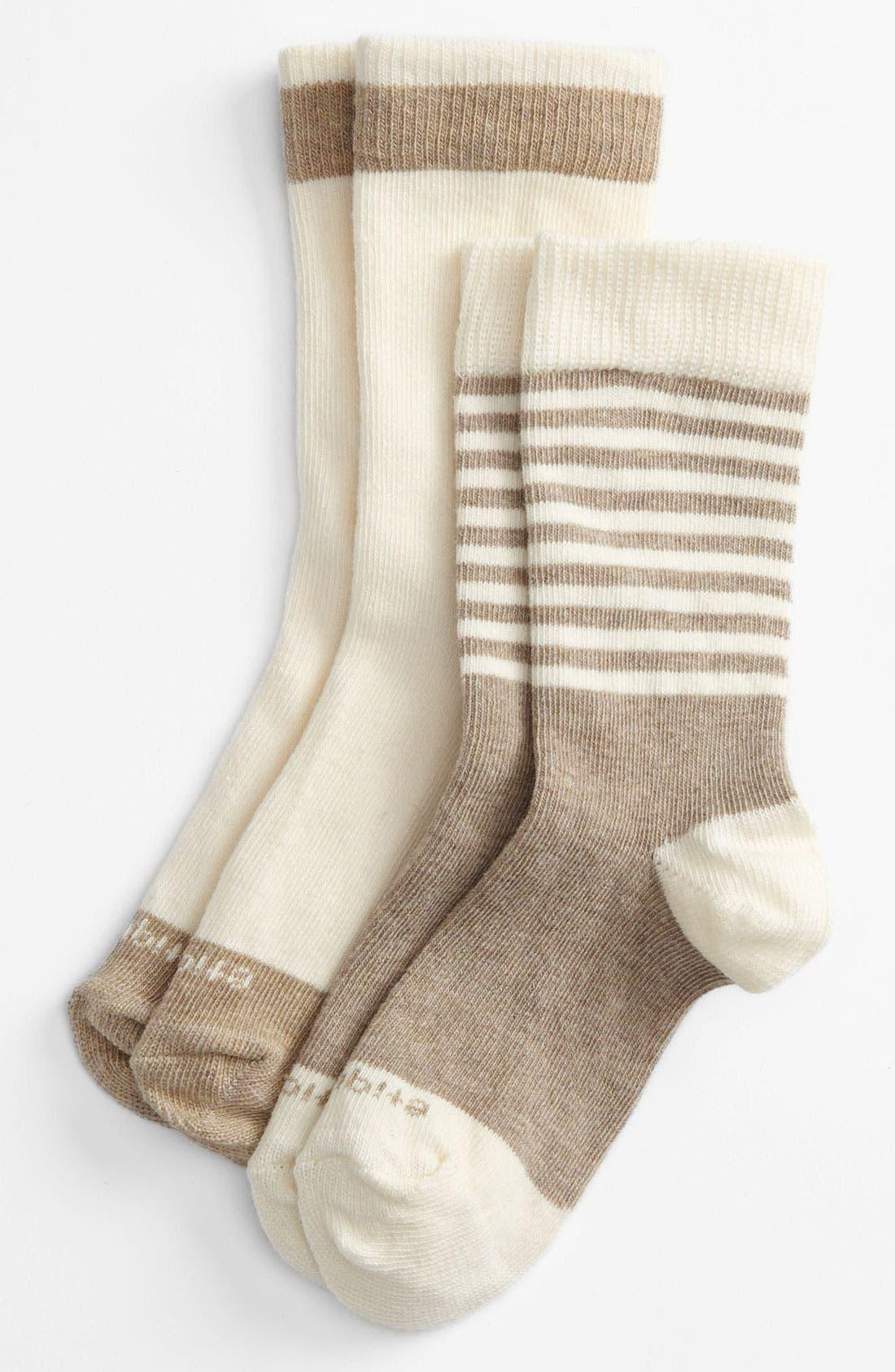 Alternate Image 1 Selected - Etiquette Clothiers 'Preppy Stripe' Socks (2-Pack) (Toddler, Little Kid & Big Kid)
