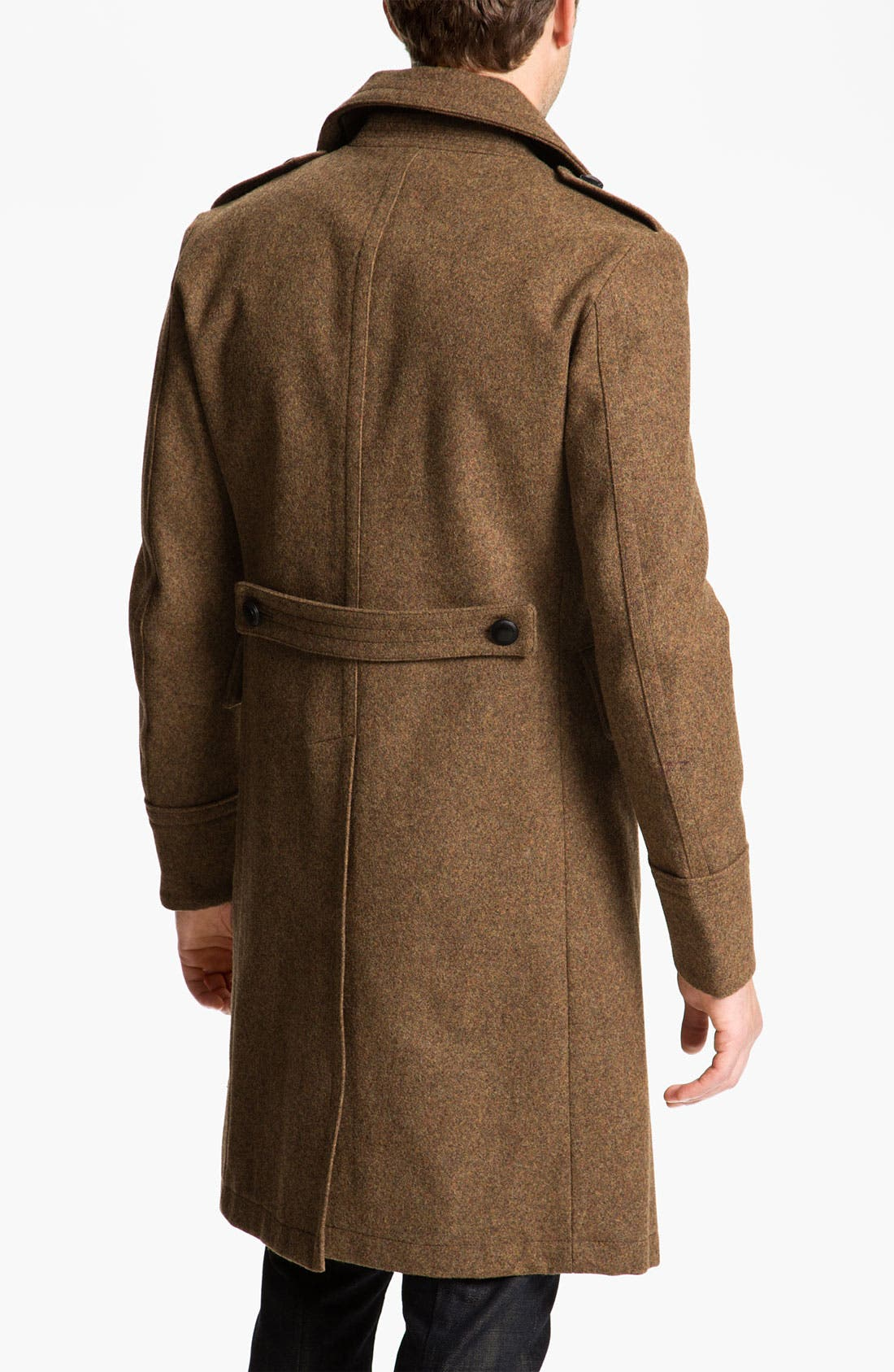 Alternate Image 2  - Burberry Brit Wool Blend Trench Coat