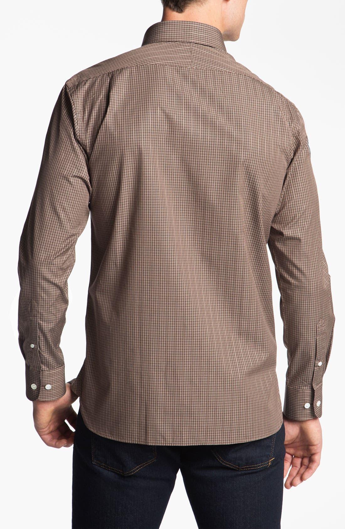 Alternate Image 2  - Hickey Freeman Regular Fit Check Sport Shirt