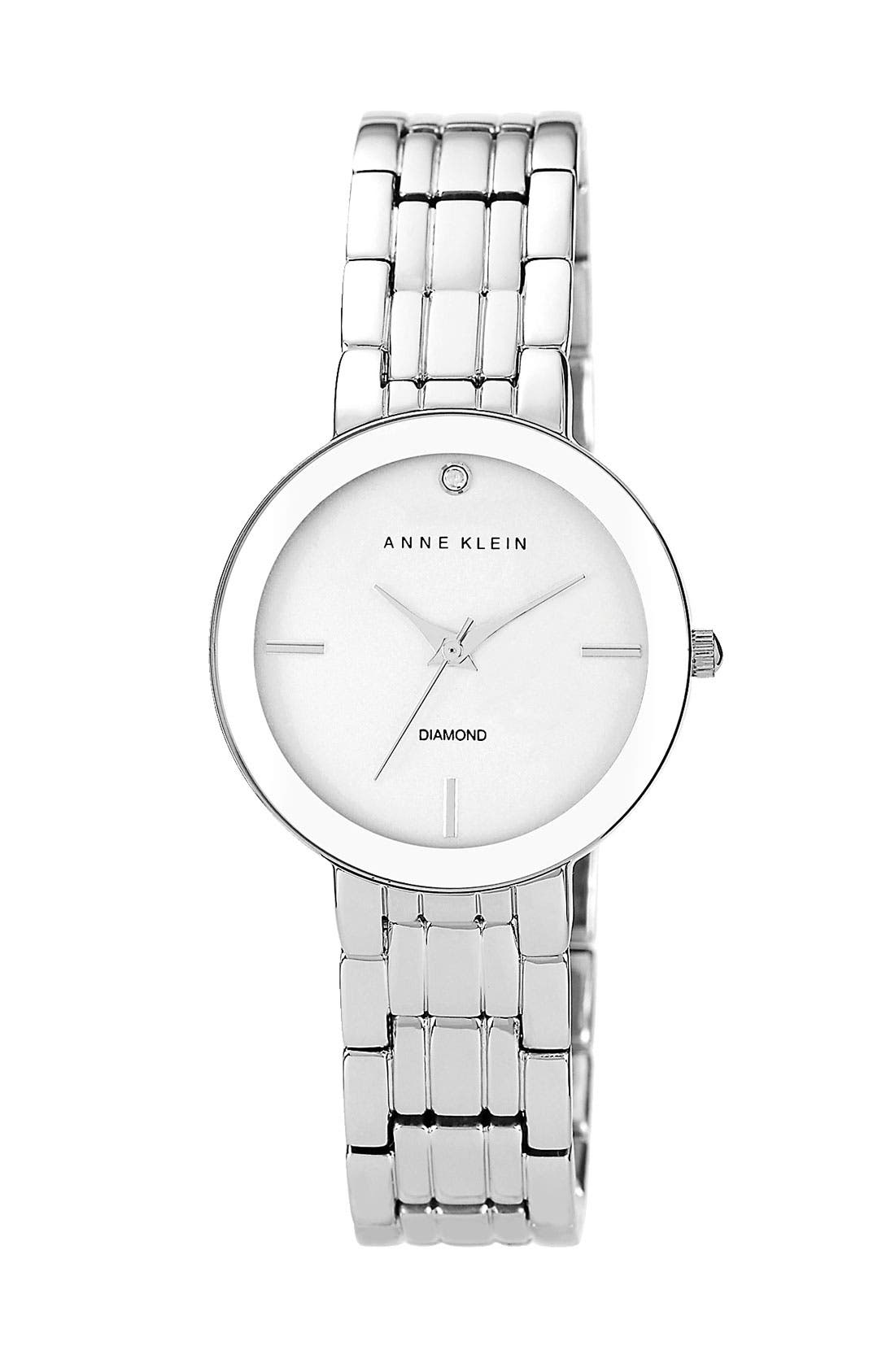 Alternate Image 1 Selected - Anne Klein Round Bracelet Watch