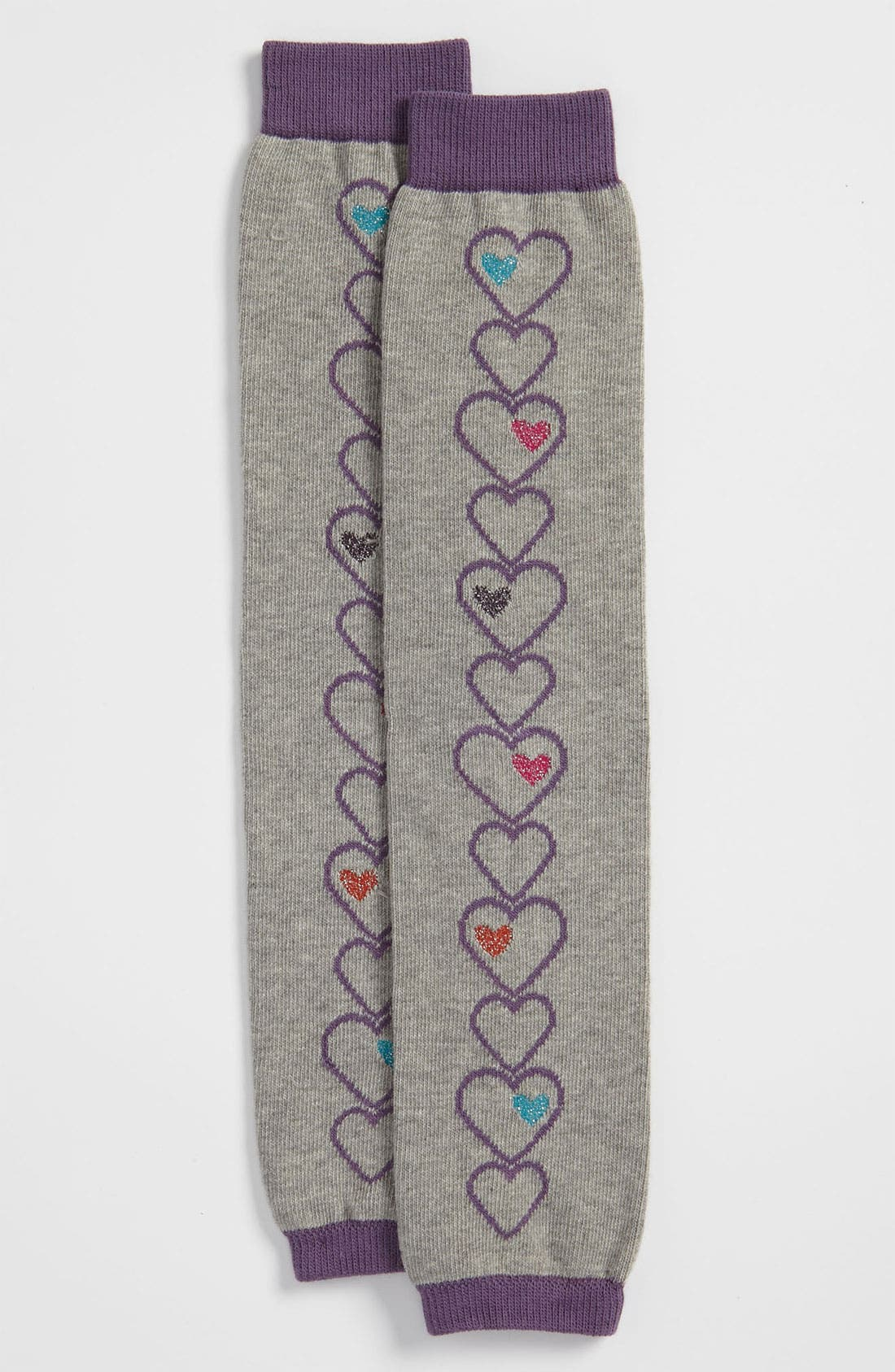 Main Image - Nordstrom 'Linear Hearts' Leg Warmers (Little Girls)