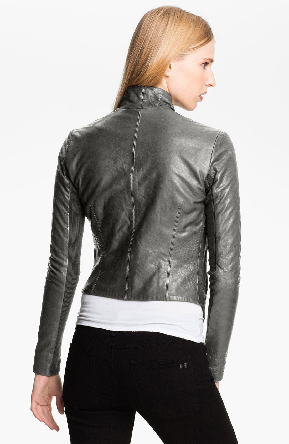 Alternate Image 2  - Veda 'Boss' Crop Leather Jacket