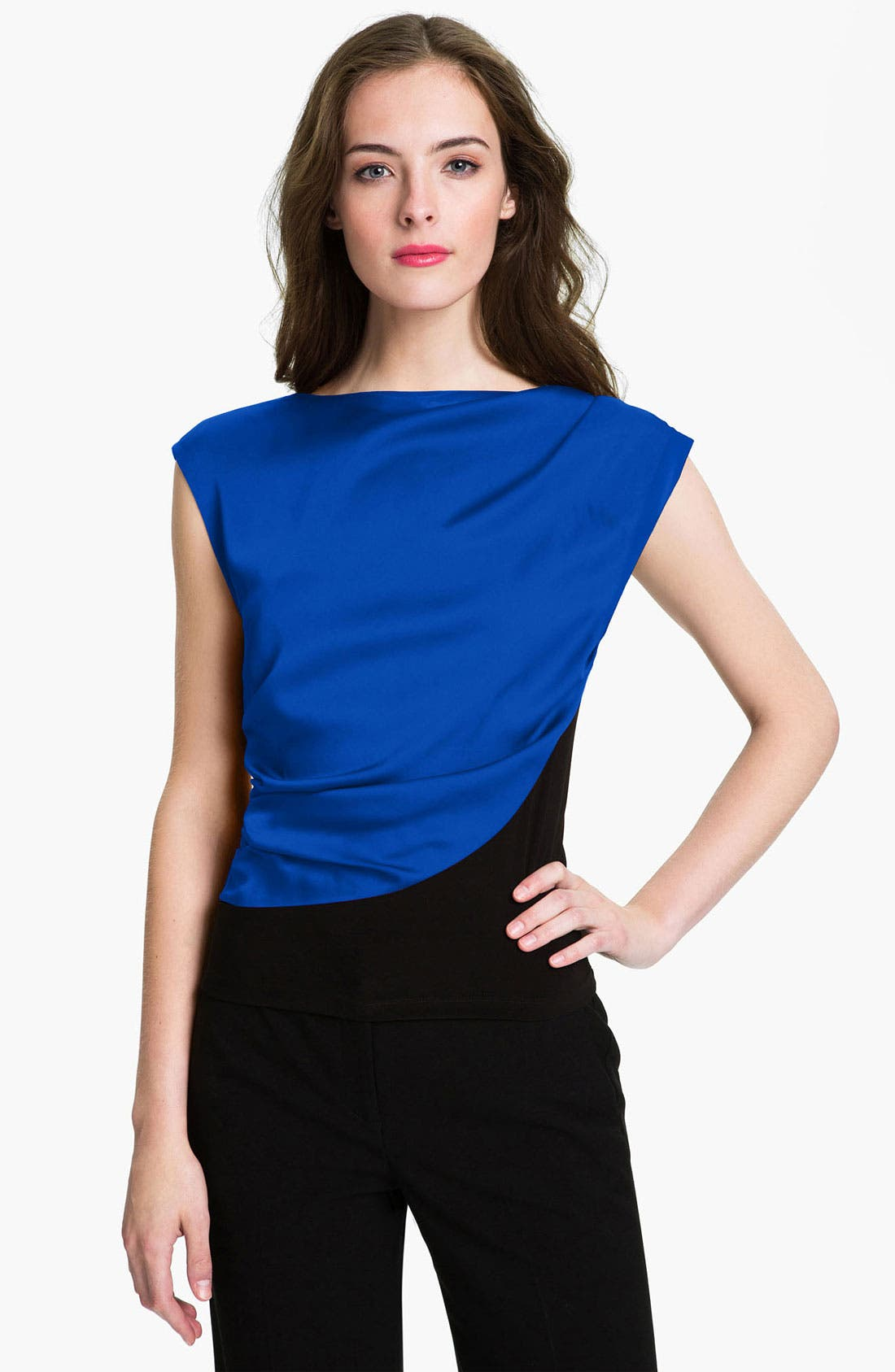 Alternate Image 1 Selected - Vince Camuto Draped Overlay Top