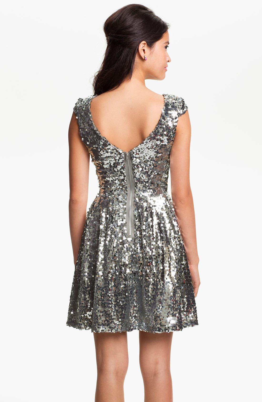 Alternate Image 2  - Trixxi Sequin Dress (Juniors)