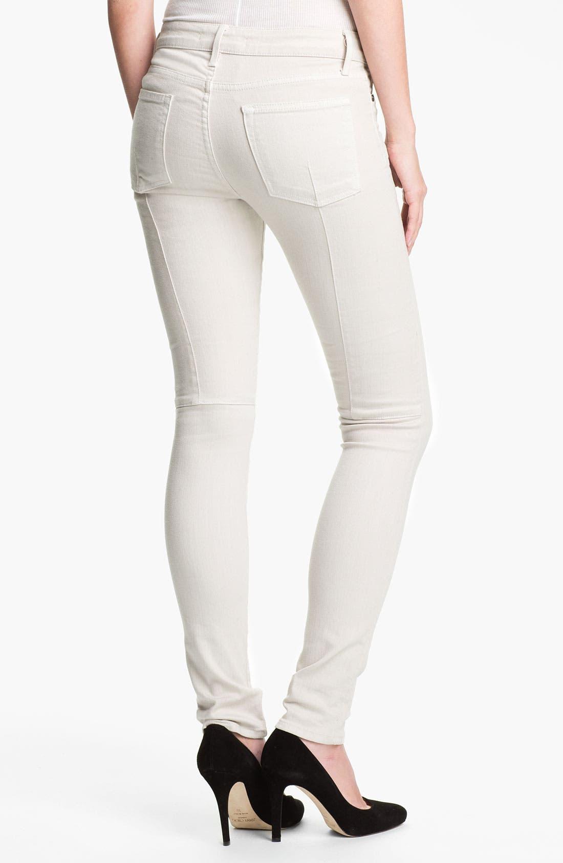 Alternate Image 2  - Vince Stretch Skinny Jeans (Snow)
