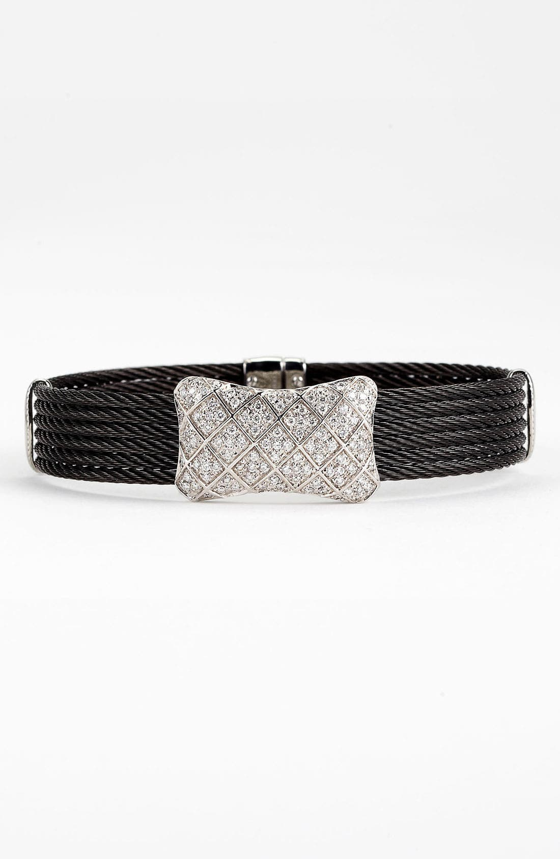 Alternate Image 1 Selected - ALOR® Diamond Bow Tie Bracelet