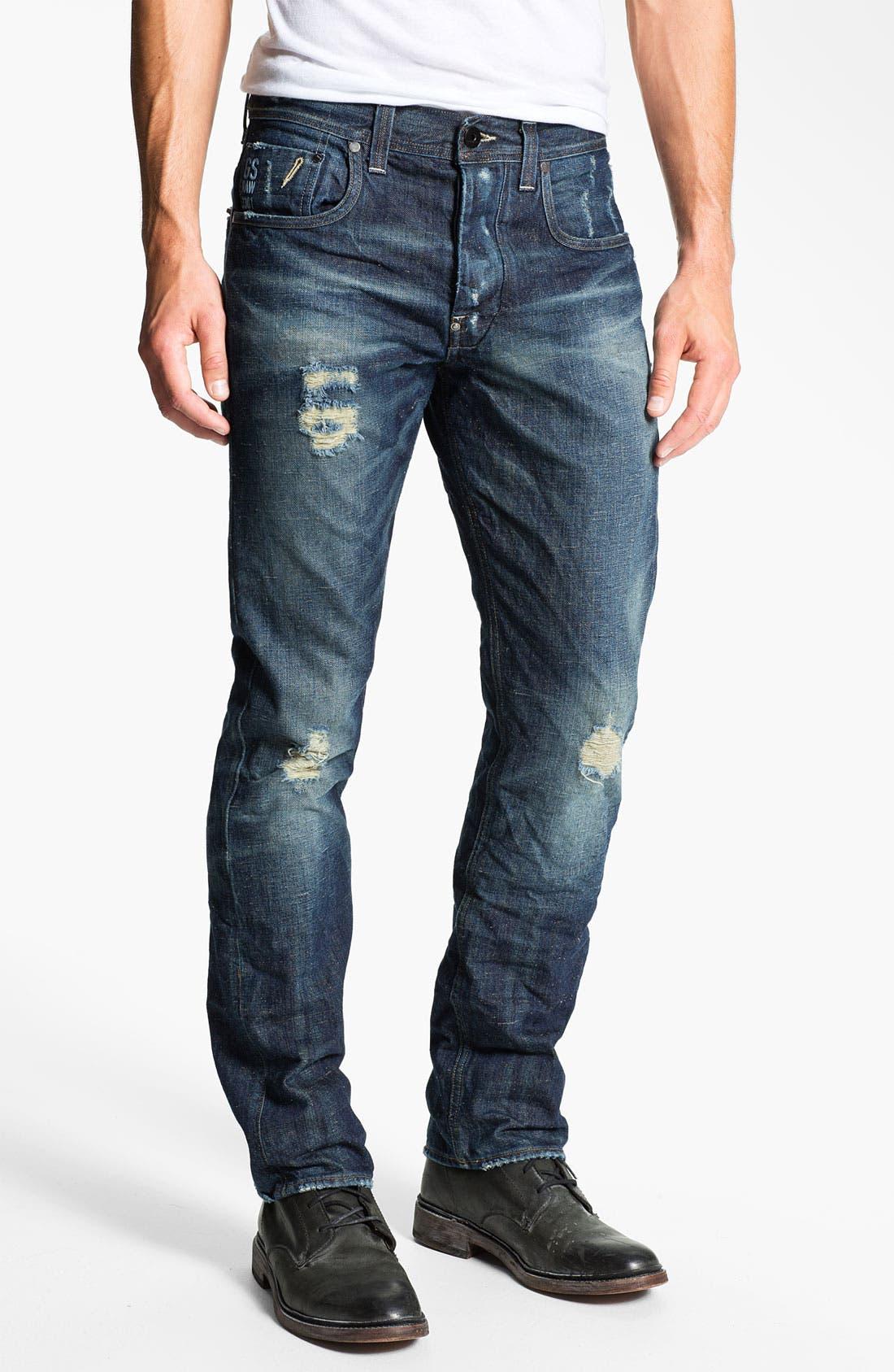 Alternate Image 2  - G-Star Raw 'Attacc' Straight Leg Jeans (Medium Destroy)