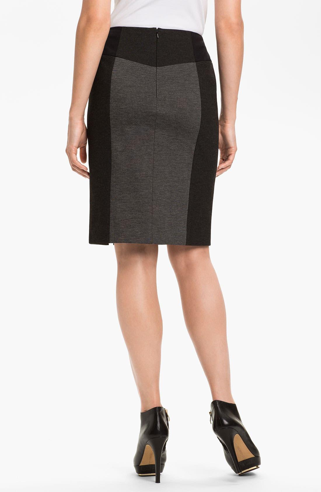 Alternate Image 2  - Halogen® Colorblock Ponte Skirt