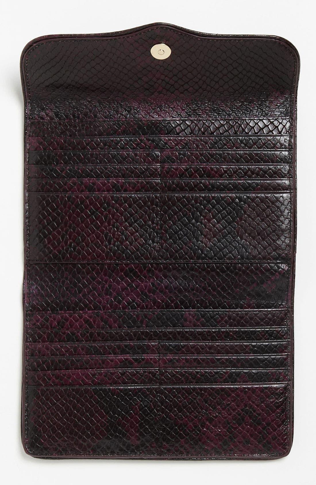 Alternate Image 3  - Rebecca Minkoff Python Embossed Passport Wallet