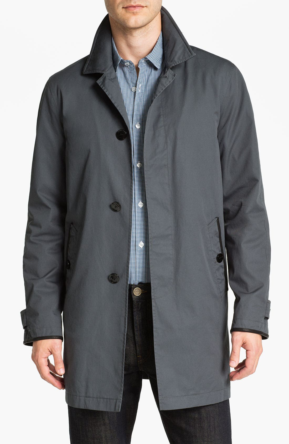 Alternate Image 1  - Burberry Brit Cotton Car Coat