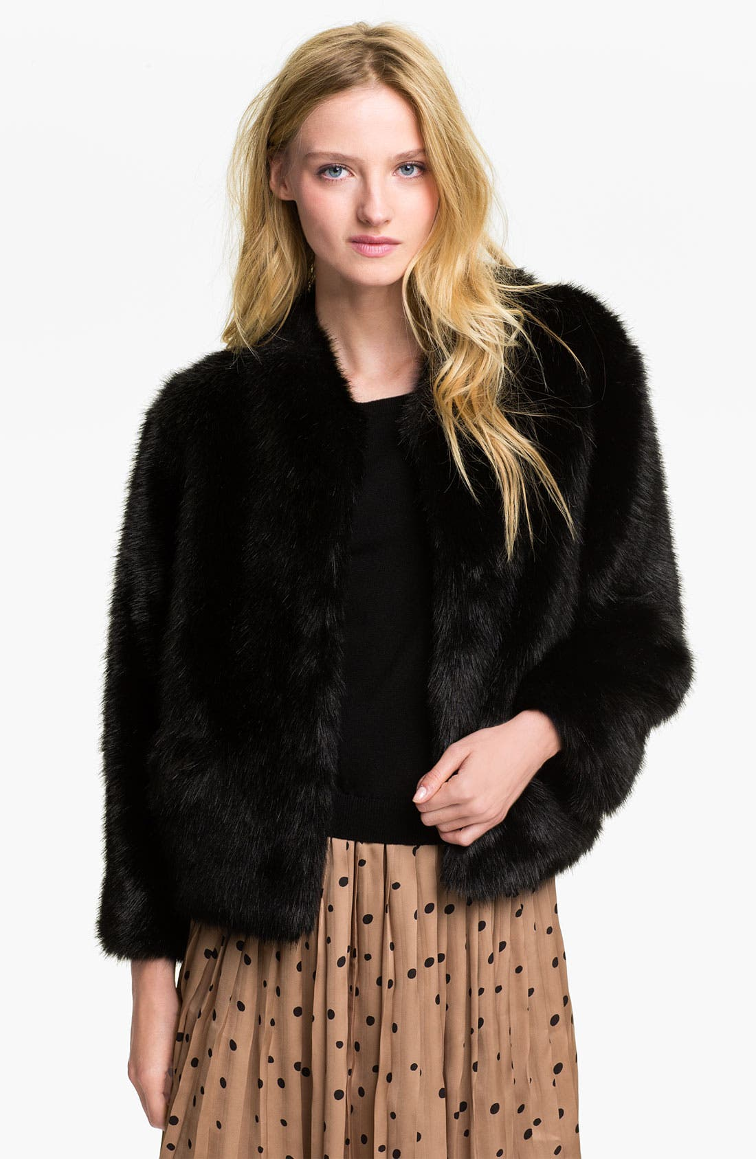 Alternate Image 1 Selected - Alberto Makali Faux Fur Jacket
