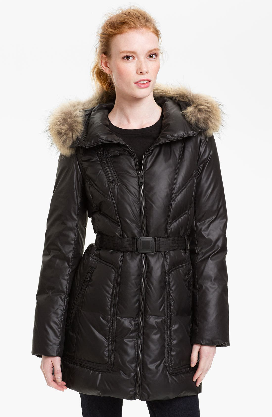 Main Image - Andrew Marc Down Coat with Genuine Coyote Fur