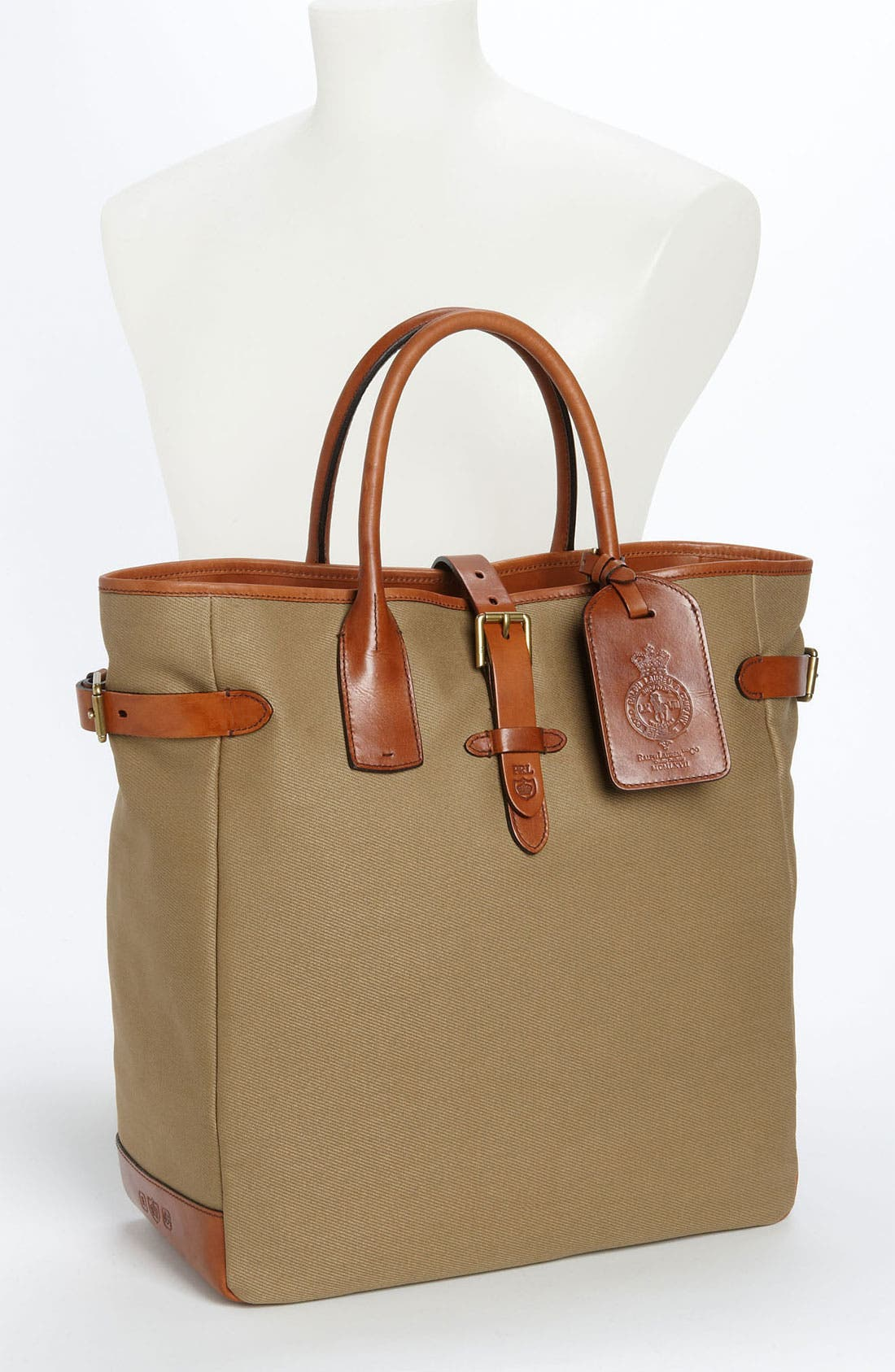 Alternate Image 4  - Polo Ralph Lauren Canvas Tote Bag