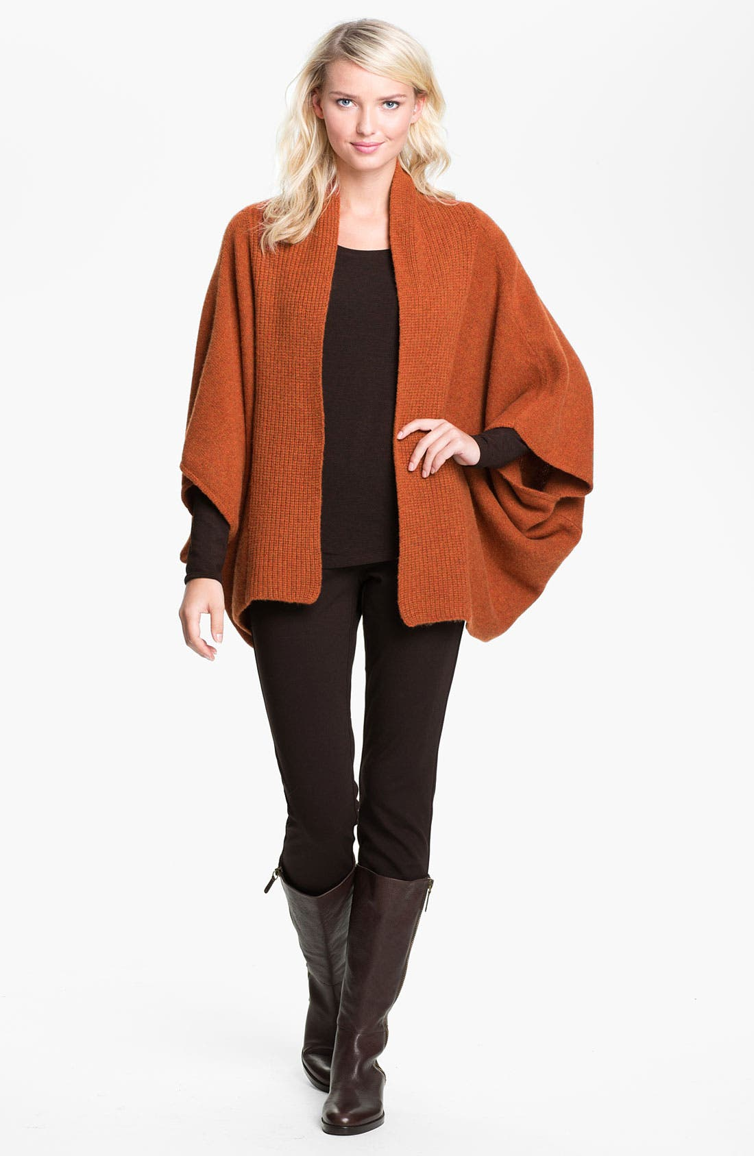 Alternate Image 4  - Eileen Fisher Kimono Cashmere Cardigan