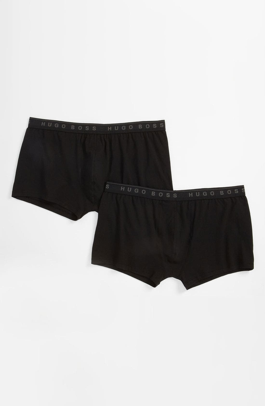 Main Image - BOSS Black Stretch Cotton Trunks (2-Pack) (Big) (Online Exclusive)