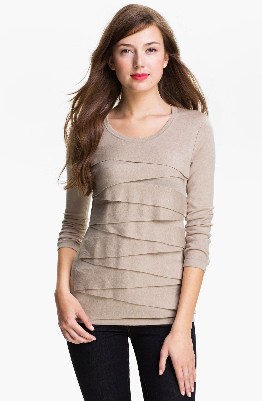 Alternate Image 1 Selected - Vince Camuto Zigzag Sweater (Online Exclusive)